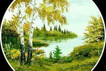 Malby / malování krajin, ptáků
