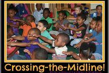 Crossing the midline