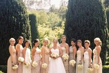 Bridesmaid Beauties / Pin any dresses you think would be nice for the wedding. Definitely long and in the neutral color palate.  Grays, creams, champagne...possibly blush.  Yay so excited!