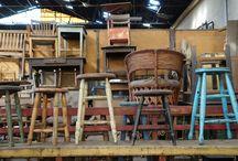Sillas, taburetes y bancas / Sillas, taburetes y bancas antiguas