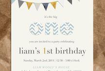 Boy's birthday invite