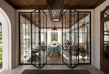 Black Framed Glass Doors