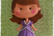 princesa de feltro