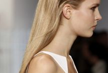 Wet look / Wet slick hairstyles from catwalks , celebrities , hairstylists