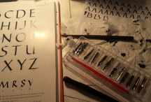 Nib and brush calligraphy / quotes and practices with nib and brush calligraphy