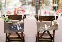 Wedding bride n groom seats