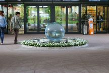 Shopping Malls / Photos of my Aqualens Sphere Water Fountain in various Shopping Malls around the world.
