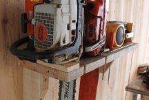 chain saw stand