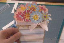 Carte pot de fleur