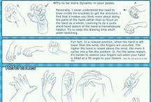 Hand Reference / Reference images for drawing hands.
