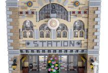 LEGO City - Train Station Ideas