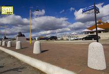 Słupki parkingowe betonowe