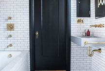Bathroom / Black & white bathroom / by Serah Saurus