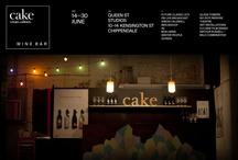 Cake wine bar