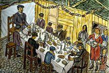 Judaica, Jewish Art - Sukkot, Simchat Torah (The Joy of the Torah)