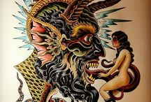 Illustration - Tattoos / Neo-Traditional, Japanese Irezumi, Black and Grey, Black Work, Sketch Work, Illustrative...