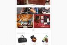 Cambridge Leather eCommerce Custom Web Design / This is a Custom Web Designs, Social Media Banner pages and covers, Custom Interior pages,  for our client  Cambridge Leather by CI WebGroup.
