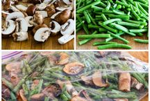 Green beans and Mushroom