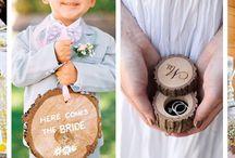 Jak wykorzystać plastry drewna na weselu? / plastry drewna, rustykalne, dodatki, drewniane, ślub, wesele, sielskie,