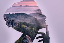 Double Exposure Portraits