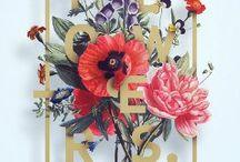 цветочная типографика
