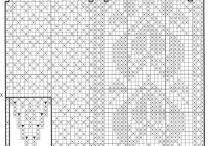 grilles pour  tricot géométrie / charts  , grilles