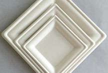 """Sugarcane Pulp is """"Sweet"""" / Bagasse dinnerware or containers are the most economical compostable choice for everyday use or large events. Elegant, strong AND beautiful. BPI certified."""