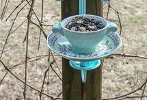 Cup & Saucer Bird Feeders