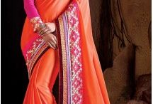 Party Wear Sarees Saris / Look gorgeous, different & unique in every party with our affordable & latest Party wear sarees for wedding. Good deals, quality stitching. http://www.heenastyle.com/party-wear-sarees