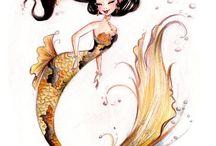 Mermaid sketches