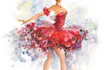 ballet costume(red)