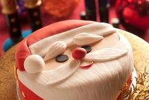 Kerst taart fondant