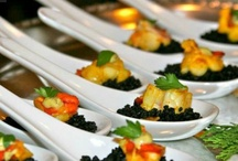 Party Dishes / Food designed by NYC area caterers for events designed by B Lee Events, a NYC Party and Event Planning Company.