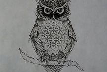 owl flower of life