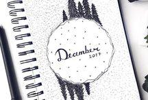 DIARY IDEAS ☆ - Christmas, winter
