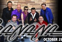 SHA NA NA at The Newton Theatre 10/29/2016 / Rock n' Roll doo-wop legends Sha Na Na bring the classics to the stage with signature songs and more. They've been from Woodstock to their own hit TV show to being featured in the movie Grease. Sha Na Na delivers an exciting show of celebrated songs like Rock n' Roll Is Here To Stay, The Twist, Hand Jive, Get a Job, and much more!