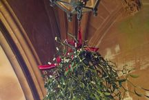 Tyntesfield House Wraxall , Somerset, Christmas flowers & Snowy scenes / Beautiful Christmas floral styling, at Tyntesfield Gothic Mansion