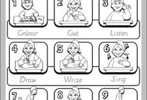 HELLO KIDS 1 / Black & white activity book for 1st graders. http://eslchallenge.weebly.com/hello-kids-1.html