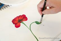 flowers to paint