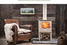 Wood Burning Stove manufacturer brochures / This board shows bespoke fireplaces with log burners found in wood stove manufacturers brochures. These fireplaces were not installed by Scarlett Fireplaces.