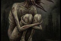 Silent Hill / Ilustraciones, fotos y bocetos de monstruos y ambientes propios de Silent Hill