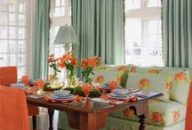 Trending: Dining Spaces {Tea Party}  / The latest trend in dining spaces - Creating an eclectic space that resembles the setting of a tea party. Comfortable seating paired with an unmatched table. Just lovely.