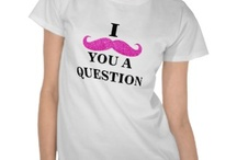 Moustache T Shirts and Gifts / Funny Moustache T Shirts for men, women and children.