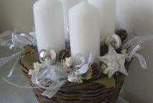 Vánoční dekorace / venkovní , dytová , věnce , adventní kalendáře , truklíky , atd....