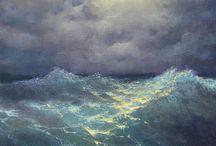 Luchten, zee schilderen