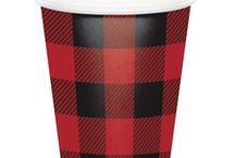 Buffalo Plaid Party Theme / Buffalo Plaid print is a hot new theme in Party Supplies!  We have searched through many boards to bring you some great ideas for an outdoor or camping party theme. We have added some of our own Buffalo Plaid Print Party Supplies as well. You can find all of our Buffalo Plaid Party Supplies at http://www.ezpartyzone.com/cat-buffalo-plaid-party-plates-napkins-cups.cfm.