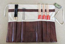 Leather drumsticks bag