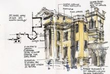 Sketching Architecture / A collection of sketches by architects and students. On source http://sketchingarchitecture.blogspot.com/