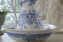 Blue and white loveliness / Blue and white china.