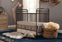 Abigail 3-in-1 Convertible Crib / Inspired by vintage American metal cribs, the Abigail 3-in-1 Crib is made of iron and will come in a vintage iron or washed white. With classic metal casting at the joints and simple curves, Abigail completes your simple yet classic nursery.